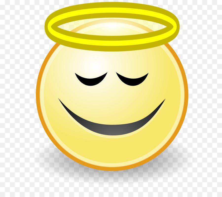 Smiley Emoticon Angel Face Clip art.