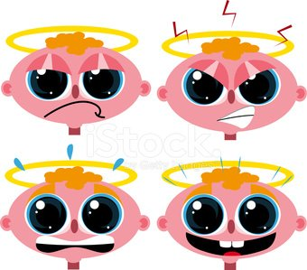 Little Angel faces Clipart Image.