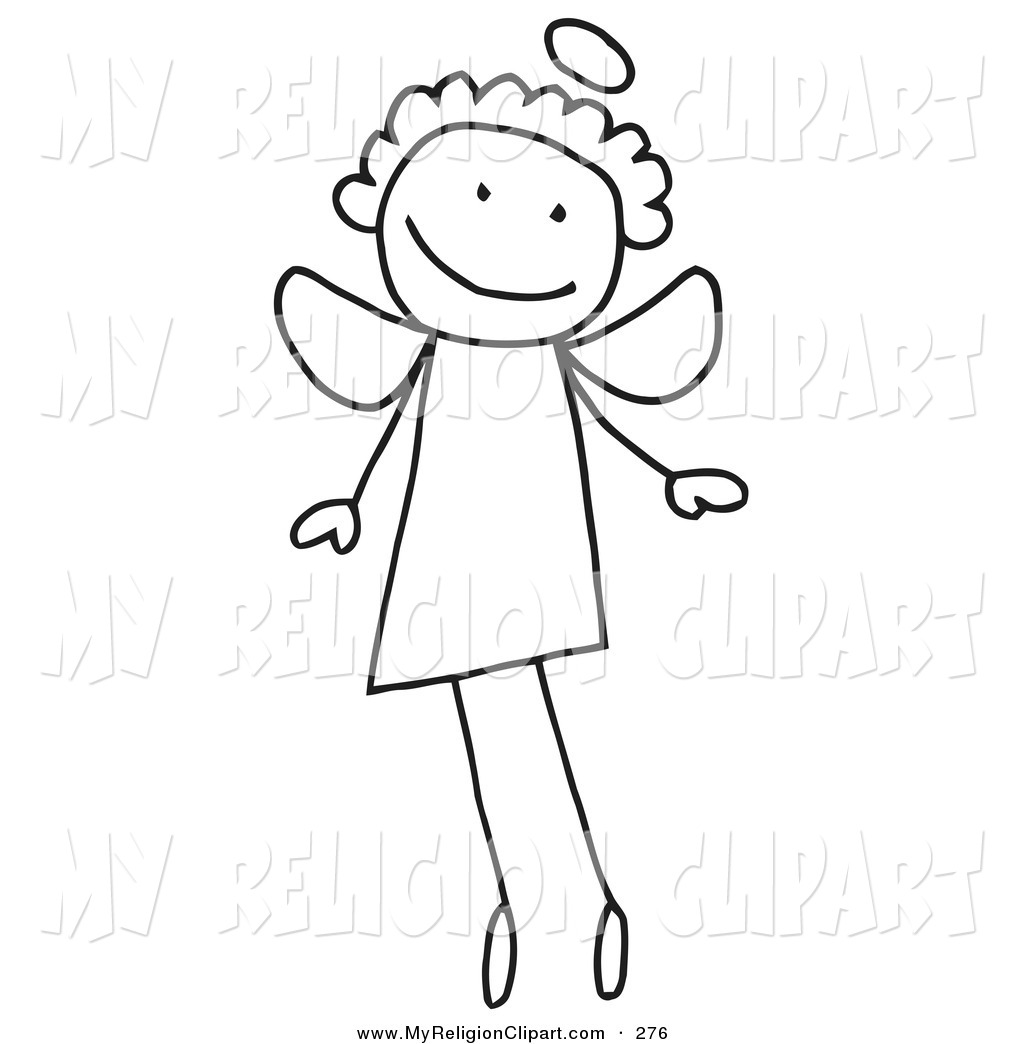 Royalty Free Stock Religion Designs of Stick Figures.