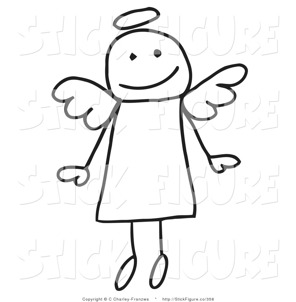 Royalty Free Angel Stock Stick Figure Designs.