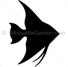 figuras siluetas simples pez.
