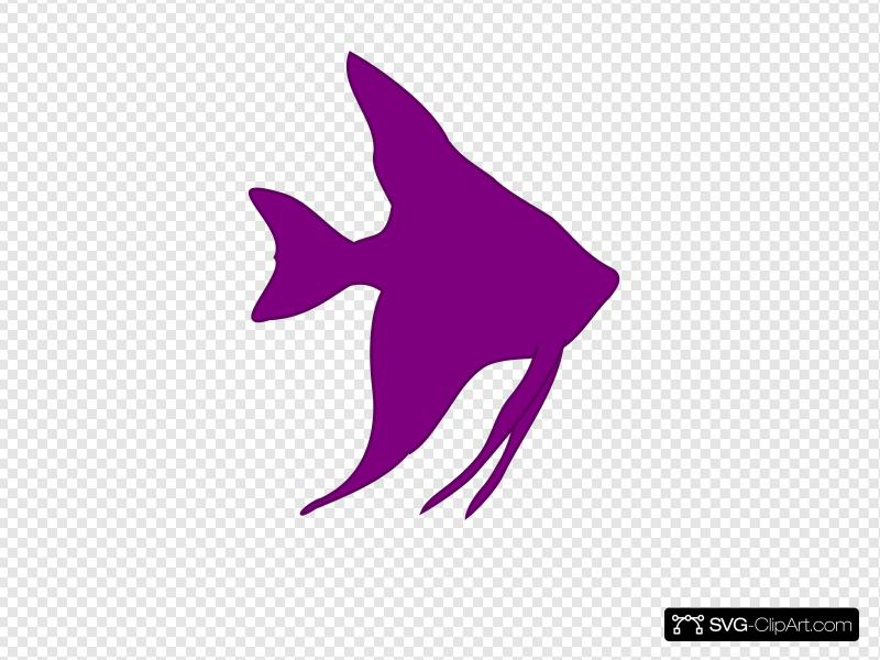 Angelfish Silhouette Clip art, Icon and SVG.