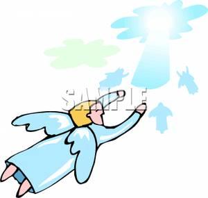 Angel Flying To Heaven.