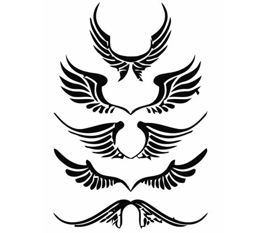 angel wing clip art.