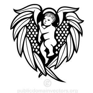 134 free angel vector art.