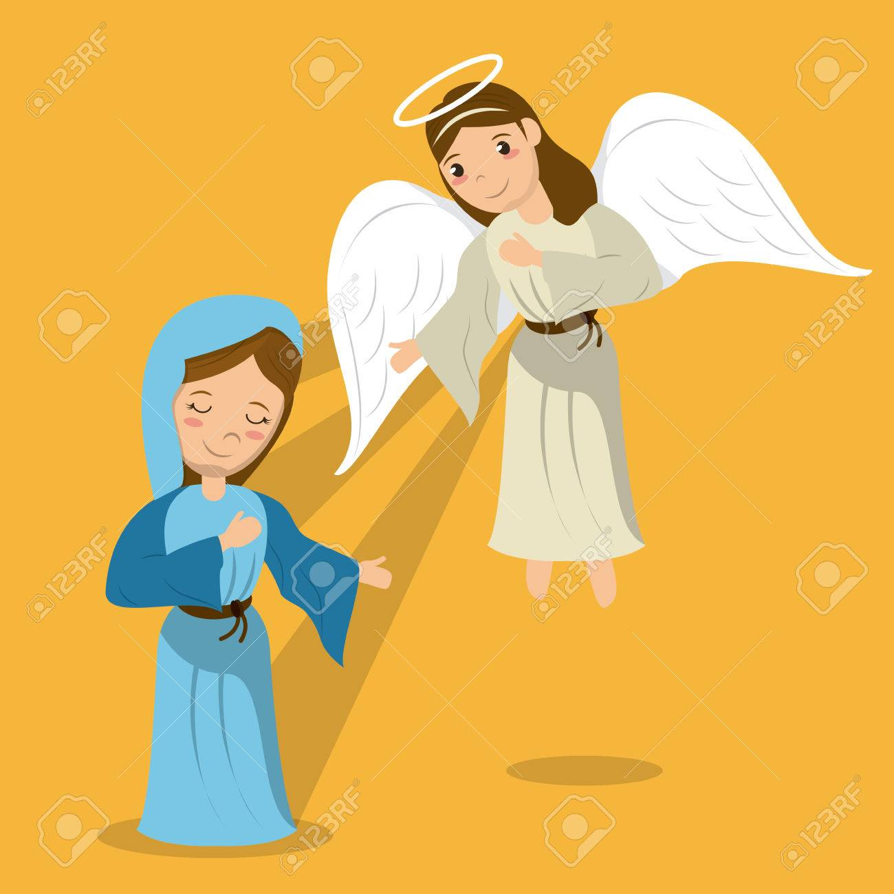 Mary And Angel Clipart.