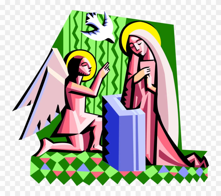 Vector Illustration Of Spiritual Angel Gabriel With.