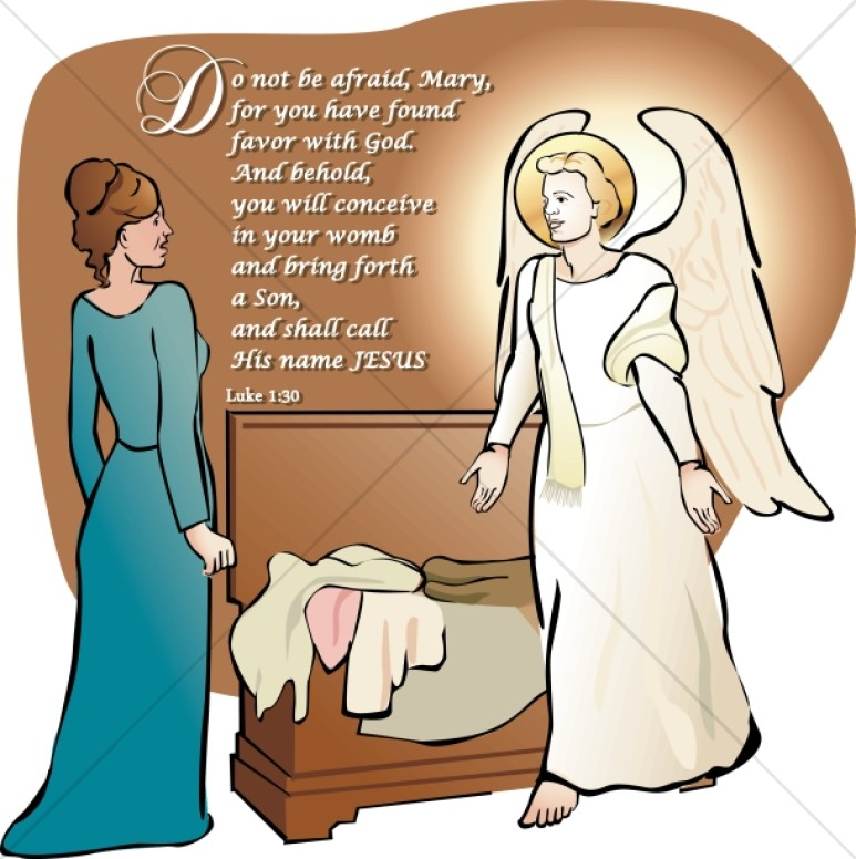 Mary Listens to the Angel Gabriel.
