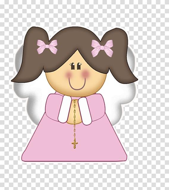 Baptism First Communion Child Convite Oroigarri, Cute angel girl.