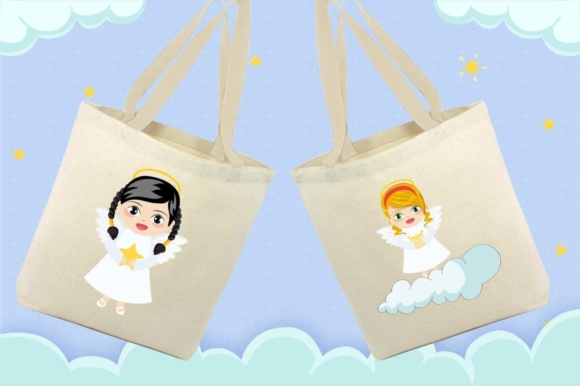 Angel Girl clipart Graphic by Cute files.