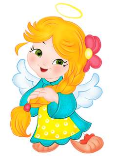 Cute Angel Girl Clipart.