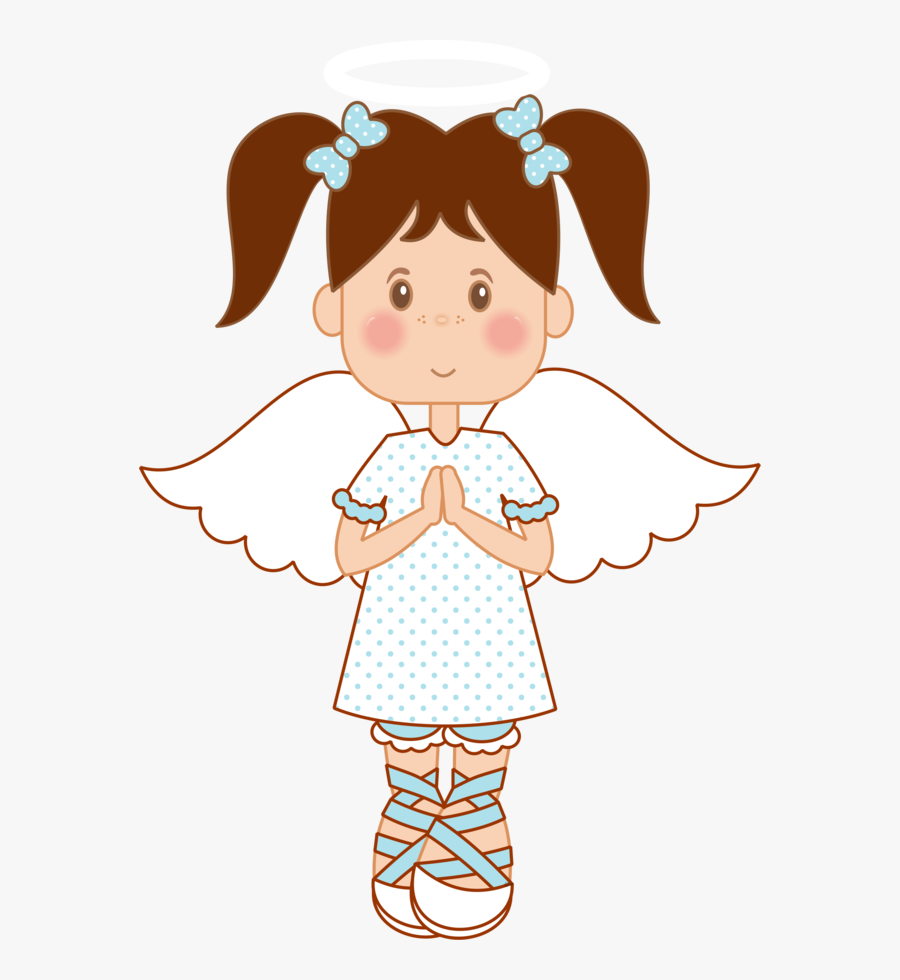Angel Clipart Brown Hair Pencil And In Color.