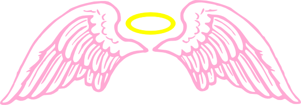Pink Angel Wings With Halo Clip Art at Clipart library.