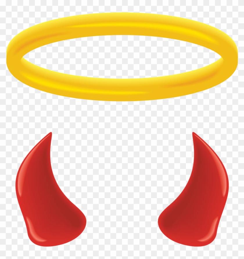 Download Free png Angel Halo Devil Clip Art Devil Horns Clip Art.