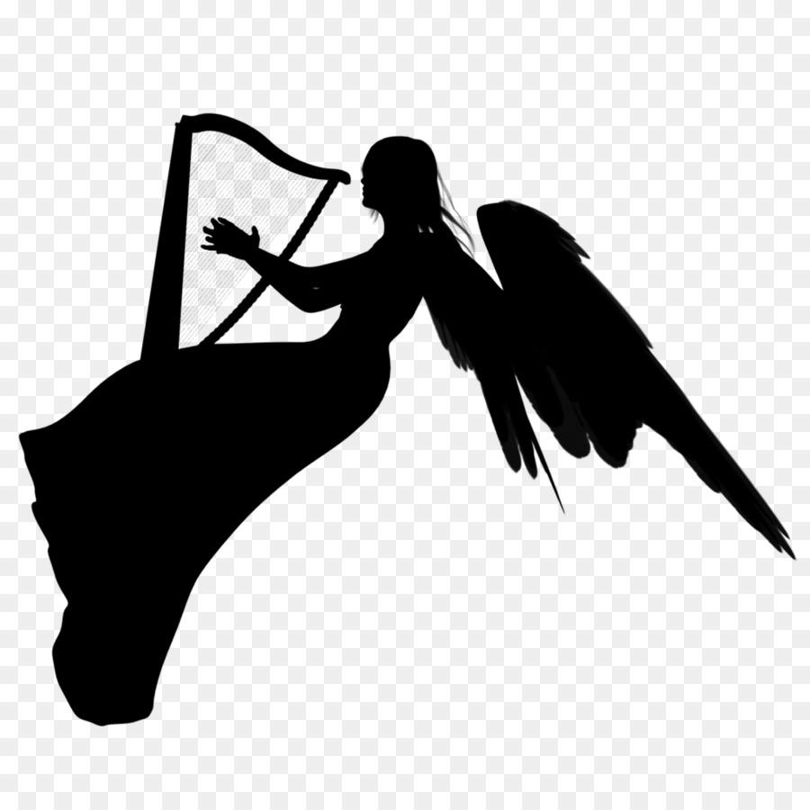 Angel Silhouette Clip art.
