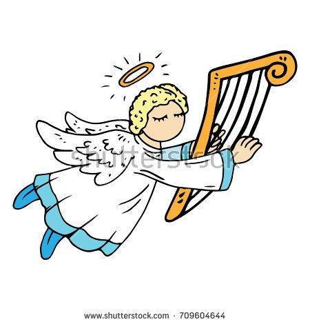 Angel harp clipart » Clipart Portal.