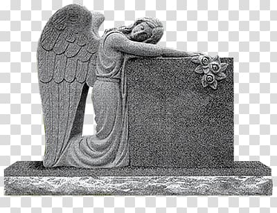 Headstone Angel of Grief Memorial Monument Cemetery.