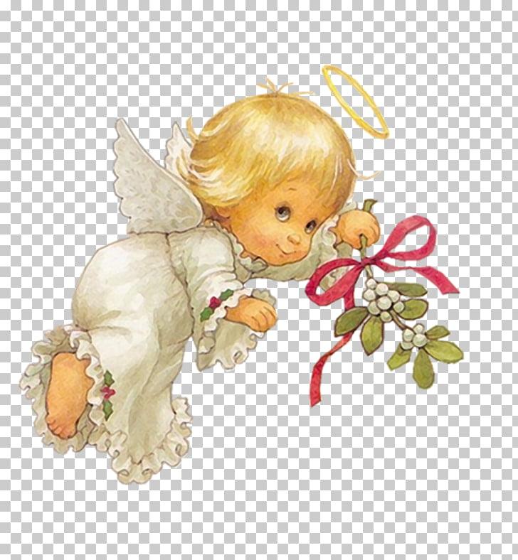 Angel Cherub , angel, cherub holding flower illustration PNG.