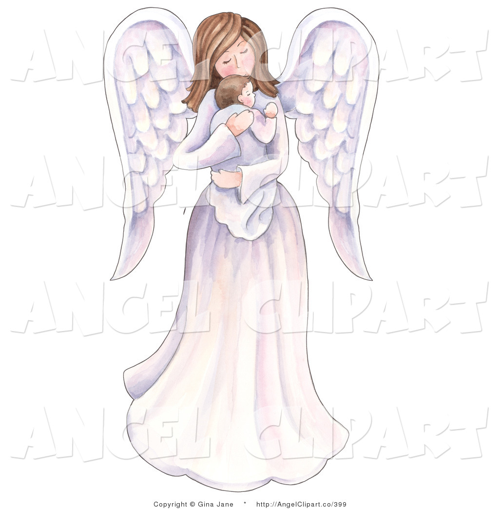 Angel Holding Baby Clipart.