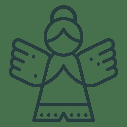Christmas ornament angel icon.