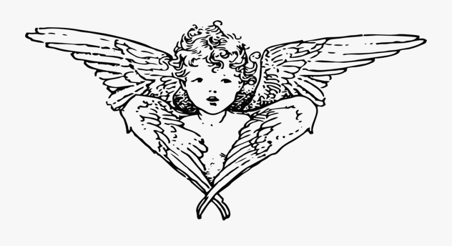 Black Clipart Guardian Angel.
