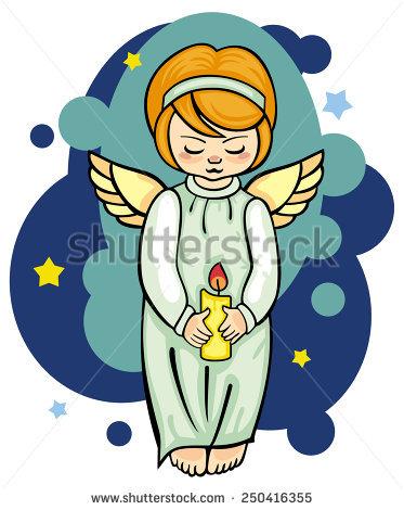 Flying Angel Lantern Stock Vector 222082312.