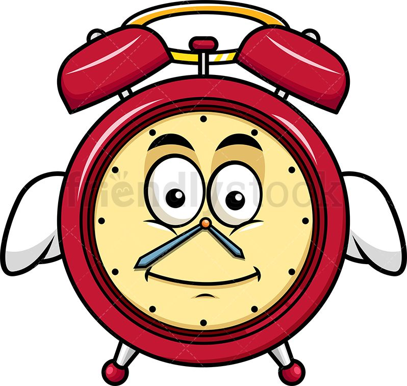 Winged Angel Alarm Clock Emoji.