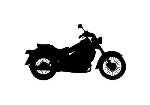 Free Motorbike Silhouette Vector.