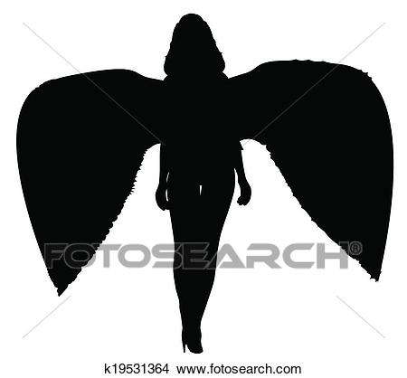 Angel of Death Silhouette Clipart.