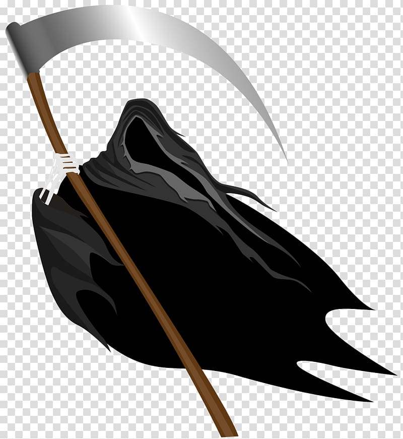 Angel of Death , Death , Creepy Grim Reaper transparent background.