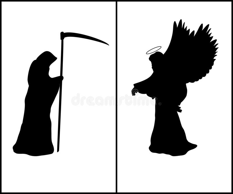 Angel Death Silhouette Stock Illustrations.