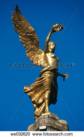 Stock Photography of Angel statue, Independence Monument in.