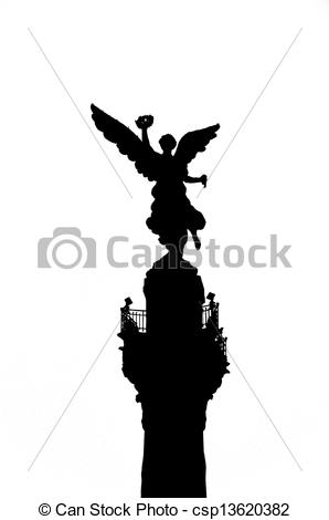 Pictures of Angel of Independence Silhouette.