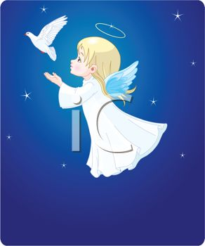 Christmas Angel with Dove of Peace.