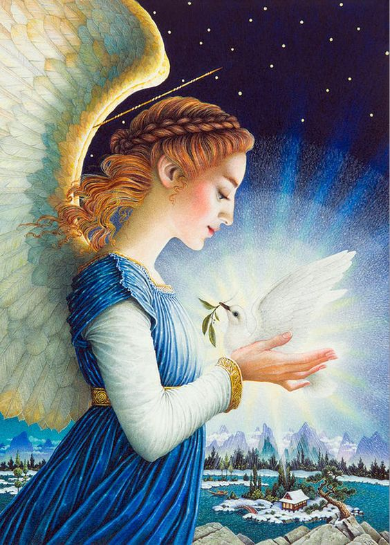 Blue angel peace dove.