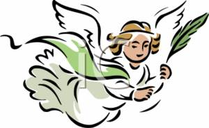 Clipart Illustration of the Angel Of Peace.