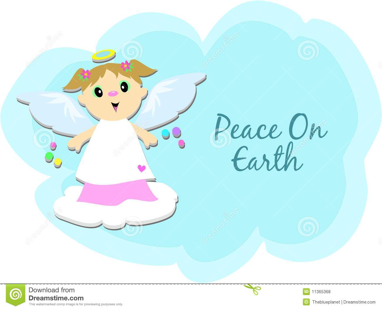 Peace On Earth Angel Royalty Free Stock Photos.