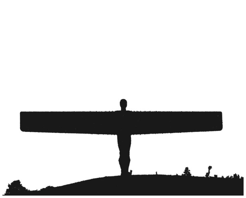 Angel of the north clipart.