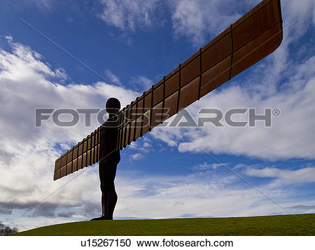 Stock Photography of England, Tyne and Wear, Gateshead. The Angel.