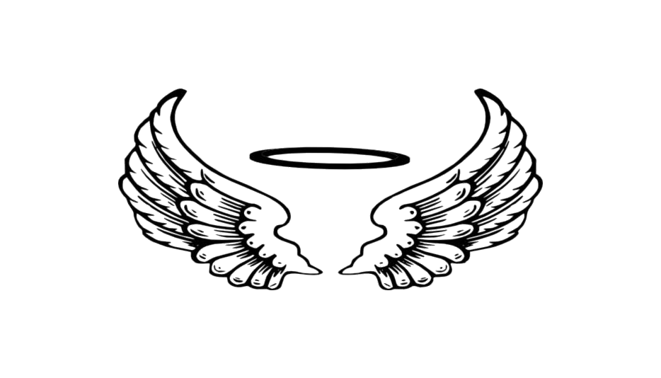 Transparent Angel Halo With Wings Outline Clipart @ Pngimages.pics.
