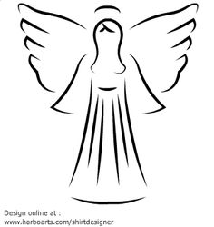 Angel Wings Drawing Outline.