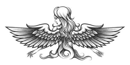 4,500 Angel Outline Stock Illustrations, Cliparts And Royalty Free.