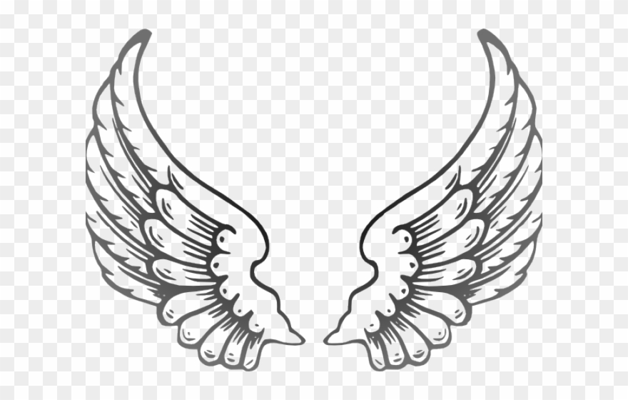 Angel Wings Png Outline Clipart (#3497874).