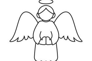 Angel outline clipart 1 » Clipart Portal.