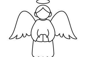 Angel outline clipart 1 » Clipart Portal.