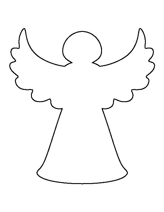 Angel outline clipart 6 » Clipart Station.