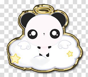 Iconos y de Angel Pets Kawaii, Angel Panda transparent.
