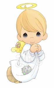 Precious Moments Angel Girl And Boy Clipart.