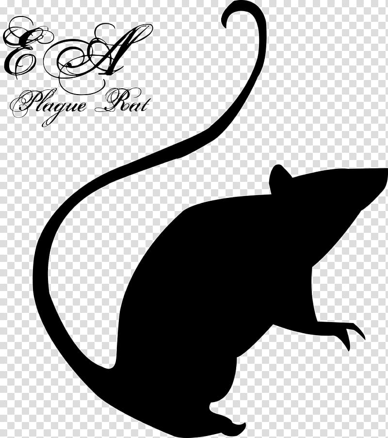Emilie Autumn Plague Rat Logo, black rat stencil transparent.