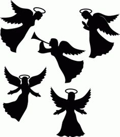 29 Best angel silhouette images.